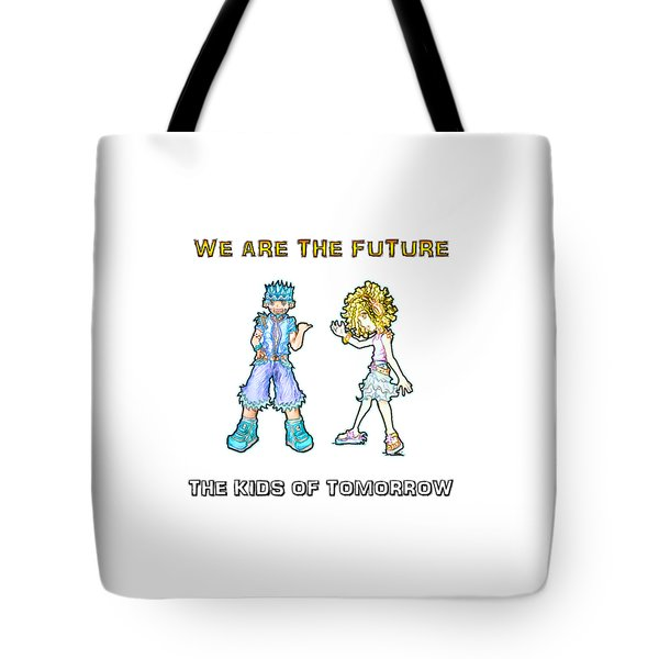 Tote Bag featuring the digital art The Kids Of Tomorrow Toby And Daphne by Shawn Dall