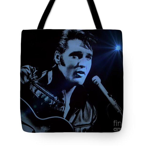The King Rocks On Tote Bag by Al Bourassa
