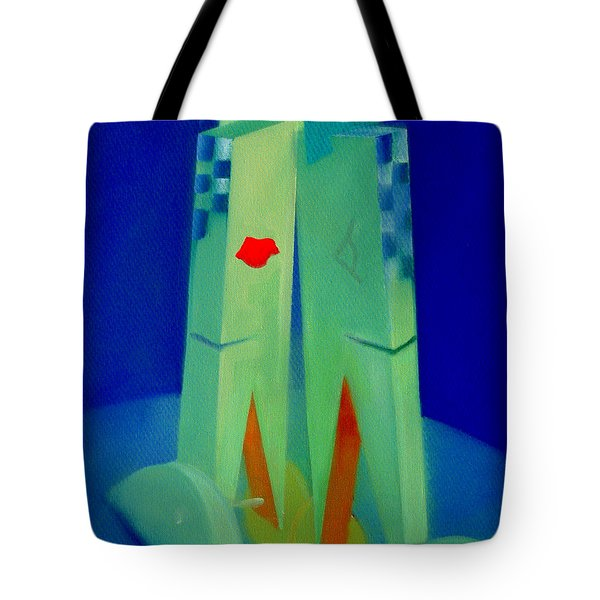Tote Bag featuring the painting The Kiss by Charles Stuart