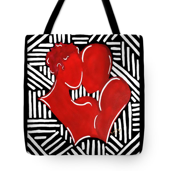 The Kiss Tote Bag by Diamin Nicole