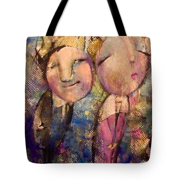 Tote Bag featuring the painting The Kiss by Eleatta Diver