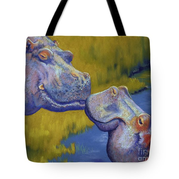 The Kiss - Hippos Tote Bag