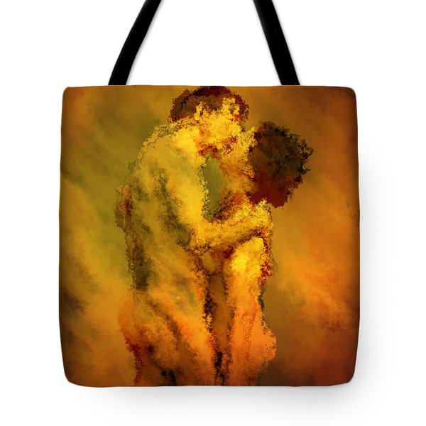 The Kiss Tote Bag by Kurt Van Wagner