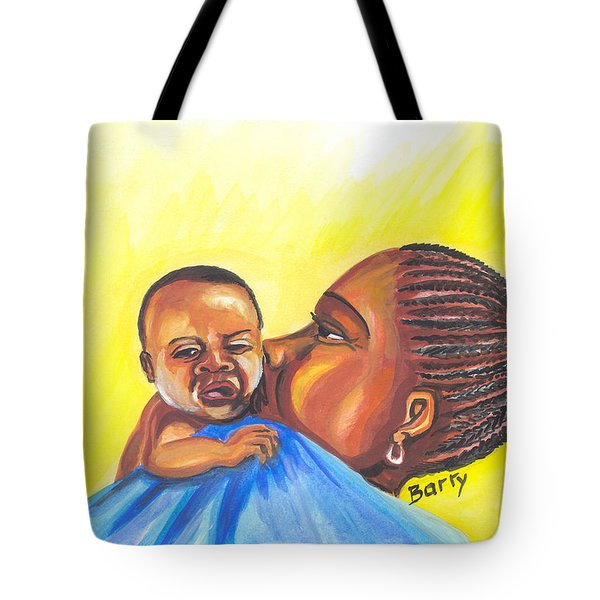 The Kiss Of A Mother In Senegal Tote Bag