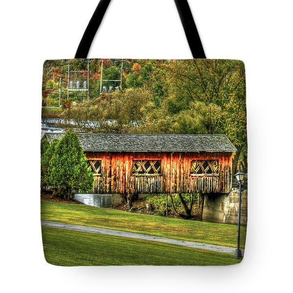 The Kissing Bridge Tote Bag