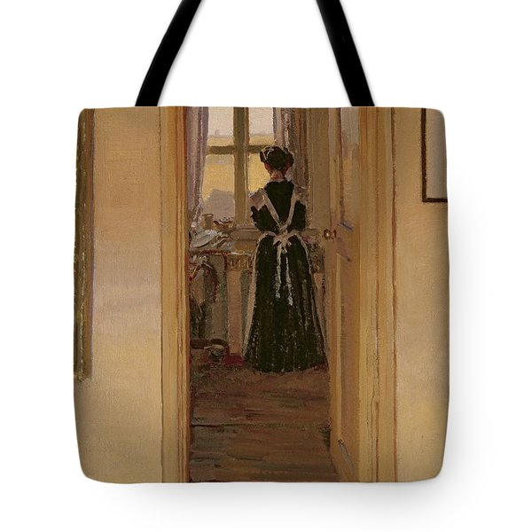 The Kitchen Tote Bag by Harold Gilman