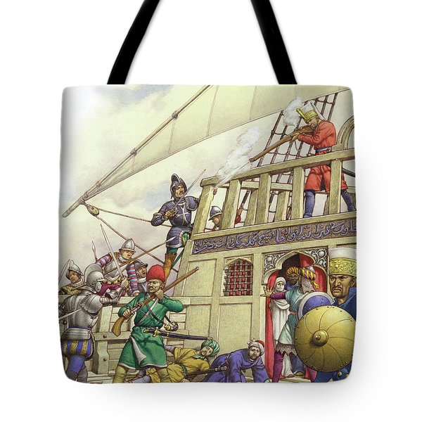 The Knights Of St John Seized Turkey's Finest Galleon, The Sultana Tote Bag