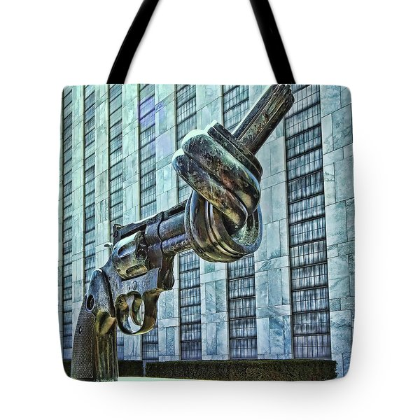 The Knotted Gun Tote Bag by Allen Beatty