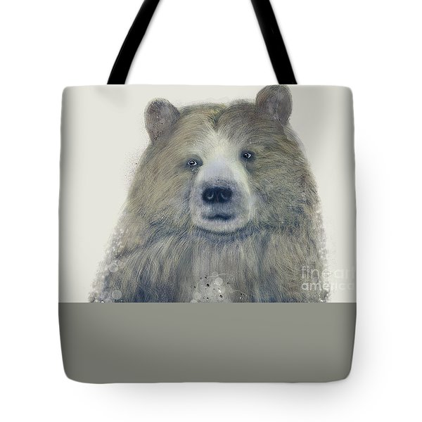 Tote Bag featuring the painting The Kodiak Bear by Bri B