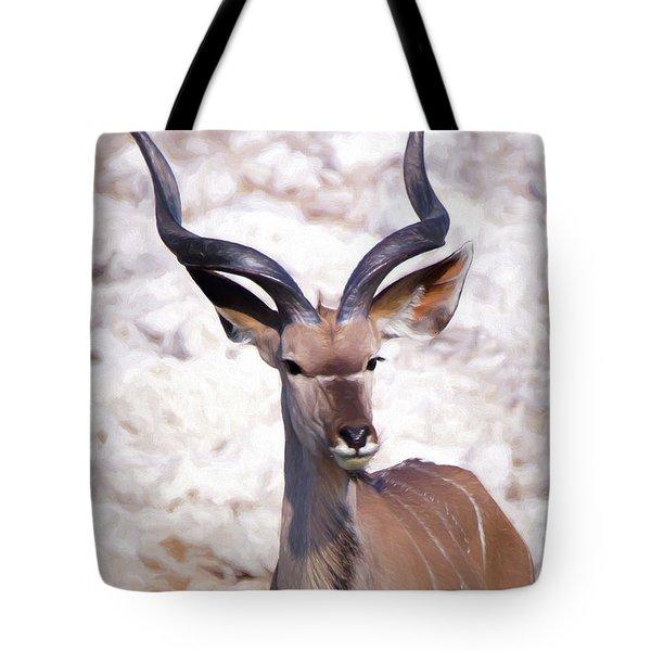 The Kudu Portrait 2 Tote Bag by Ernie Echols