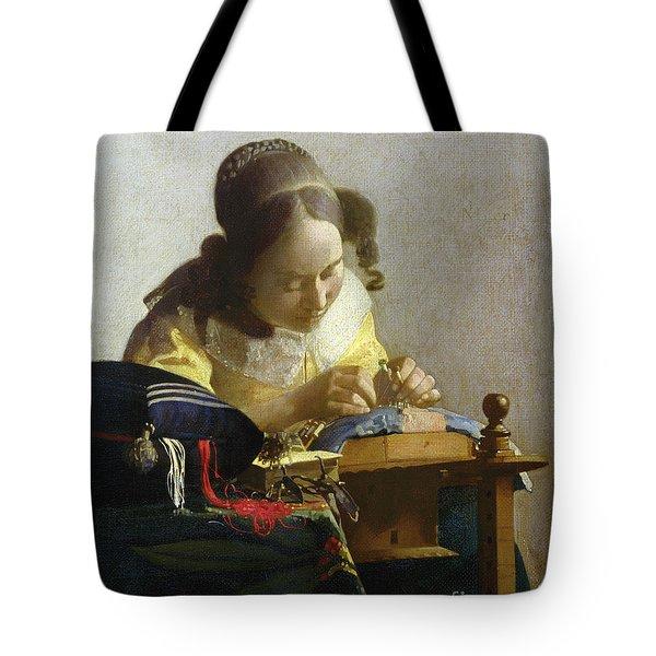 The Lacemaker Tote Bag by Jan Vermeer
