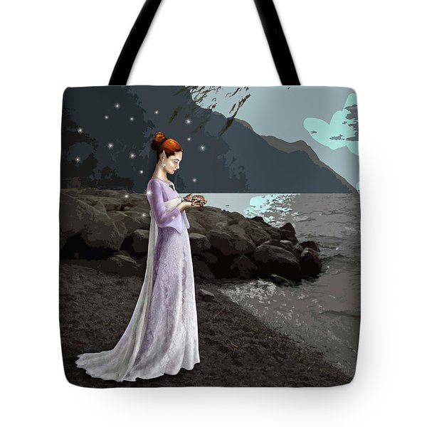 The Lady And The Kitty Tote Bag