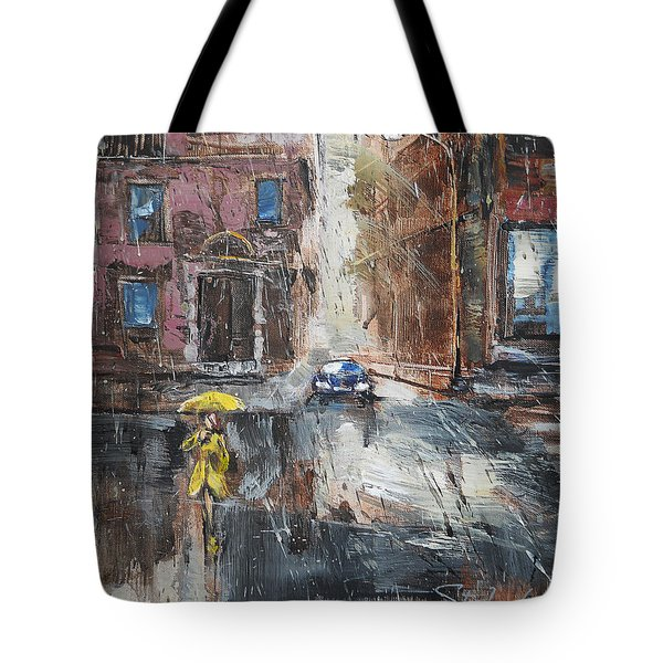The Lady In Yellow Tote Bag