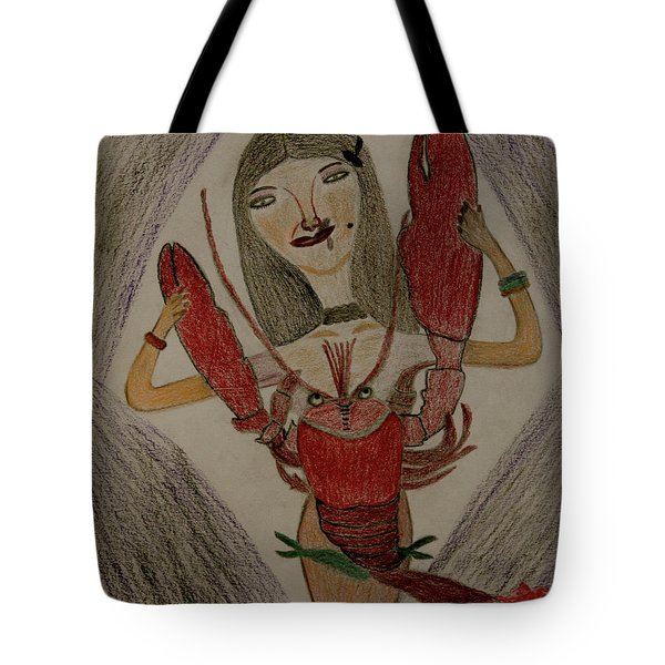 Tote Bag featuring the painting The Lady by Lorna Maza