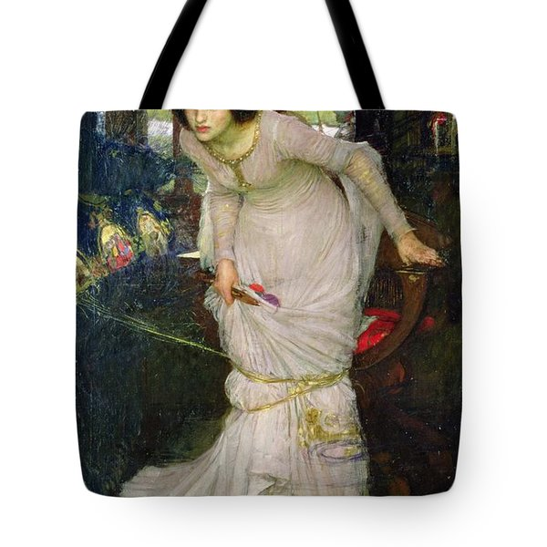 The Lady Of Shalott Tote Bag by John William Waterhouse