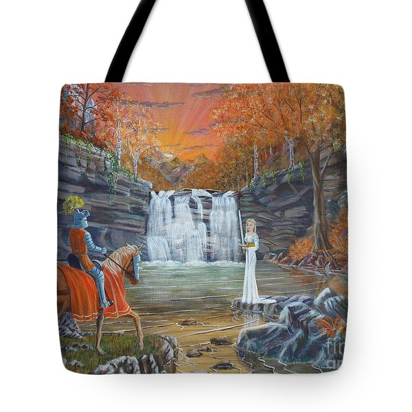 The Lady Of The Lake Tote Bag by Anthony Lyon