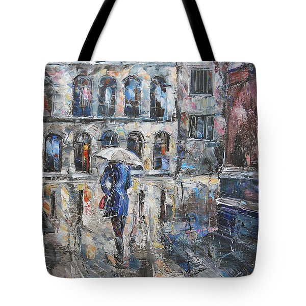 The Lady In Blue Tote Bag
