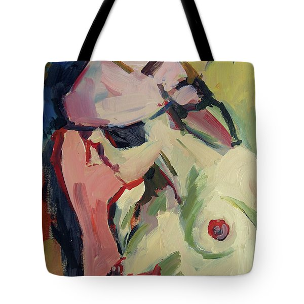 The Lady Without A Pearl Tote Bag