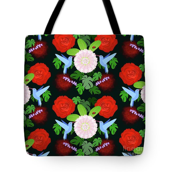 The Ladybird And The Hummingbird Tote Bag