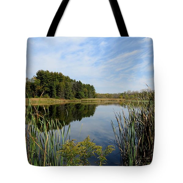 Tote Bag featuring the photograph The Lake At Cadiz Springs by Kimberly Mackowski