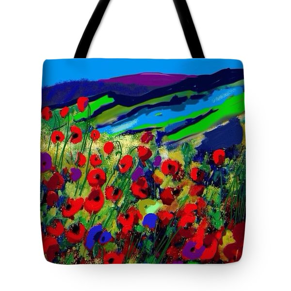 e787e2d028aa Tote Bag featuring the painting The Lake Below by Craig Nelson