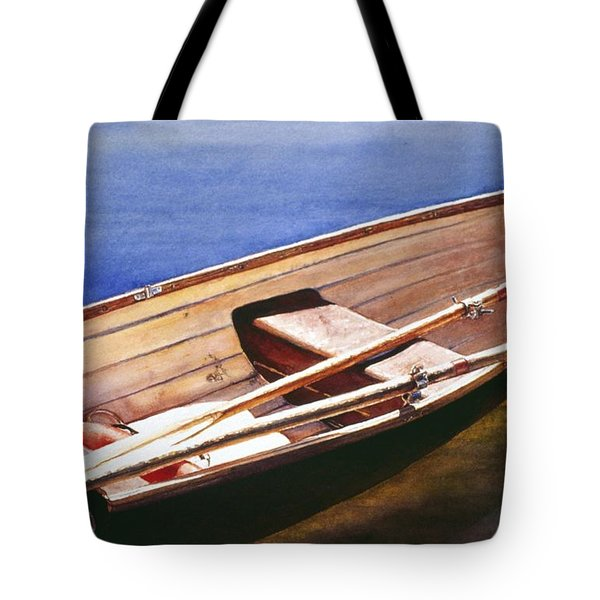 The Lake Boat Tote Bag