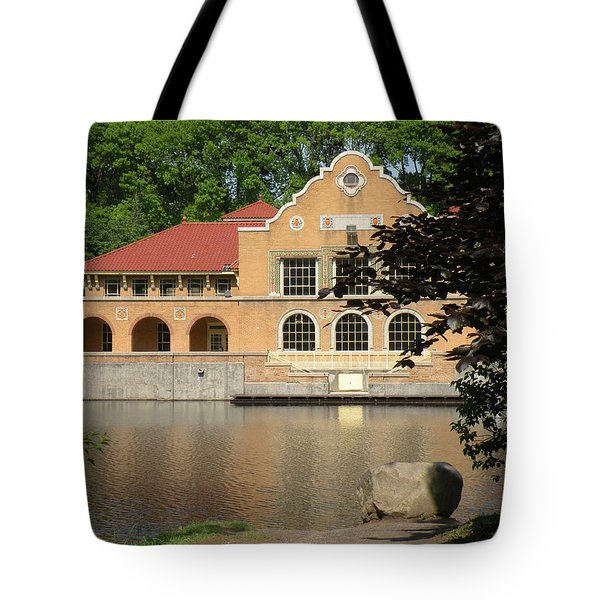 Tote Bag featuring the photograph The Lake House by Rosalie Scanlon