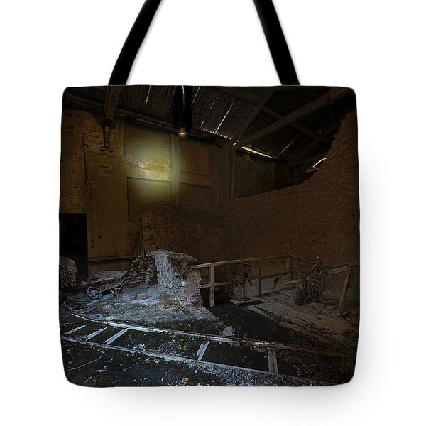 Tote Bag featuring the photograph The Lamp Of The Abandoned Furnace Quarry  by Enrico Pelos
