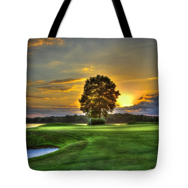 The Landing Golf Course Reynolds Plantation Landscape Art Tote Bag