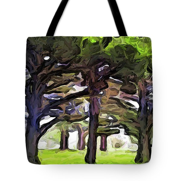 The Landscape With The Leaning Trees Tote Bag