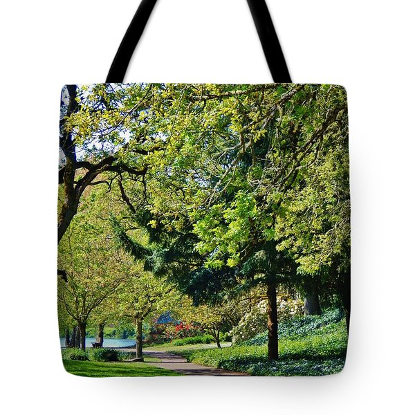 The Lane At Waverly Pond Tote Bag