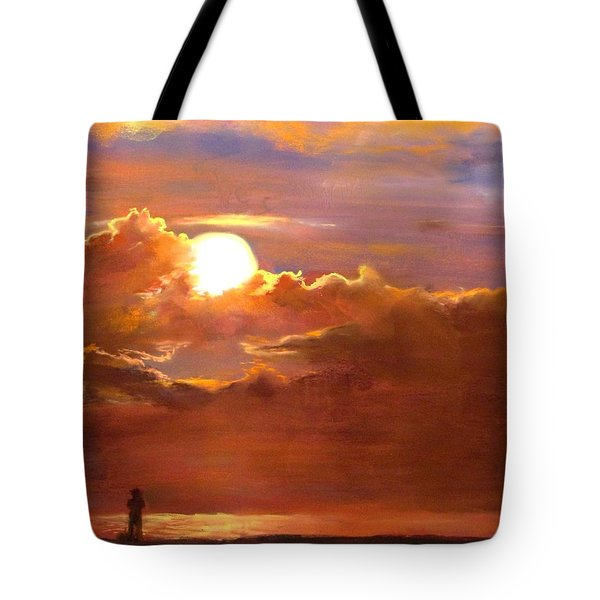 The Last Cast Tote Bag by Jack Skinner