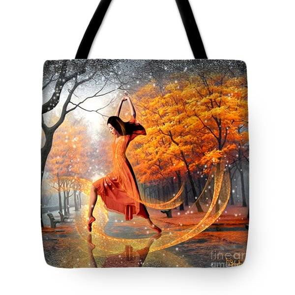 The Last Dance Of Autumn - Fantasy Art  Tote Bag