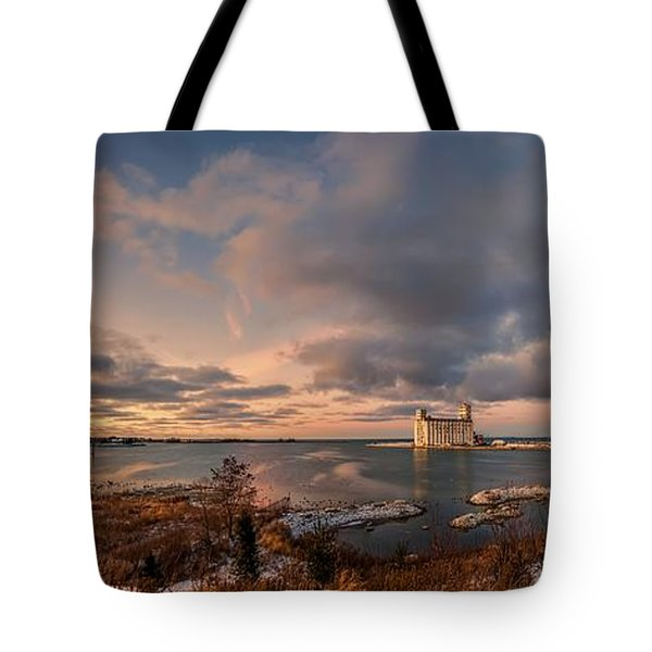 The Last Ice On The Bay Tote Bag