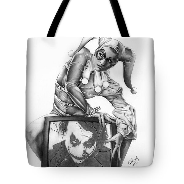 Tote Bag featuring the painting The Last Laugh by Pete Tapang