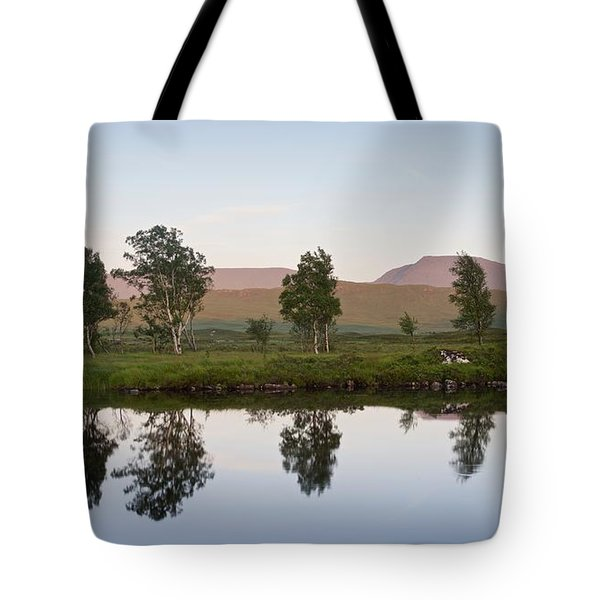 The Last Light At Loch Ba Tote Bag
