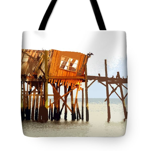 The Last Of Old Cedar Key Tote Bag by David Lee Thompson