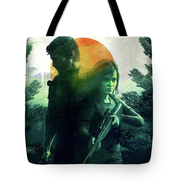 Tote Bag featuring the digital art The Last Of Us  by IamLoudness Studio