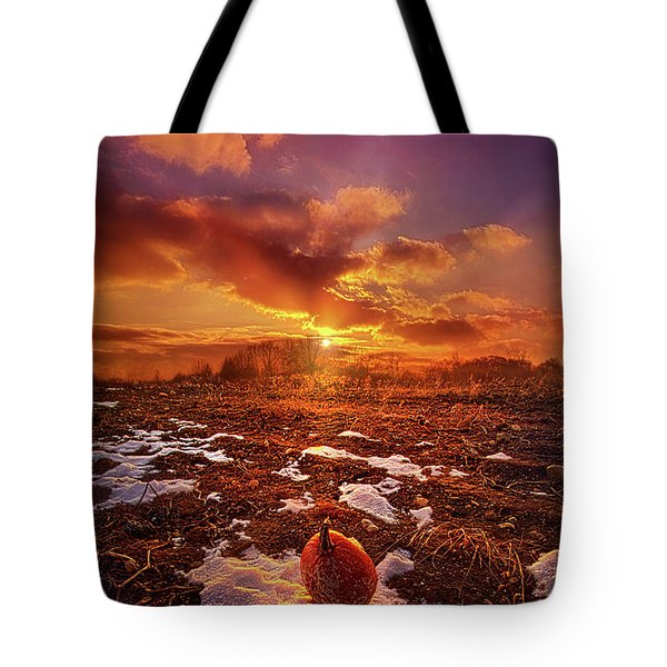 Tote Bag featuring the photograph The Last Pumpkin by Phil Koch