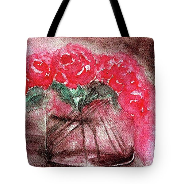 The Last Red Roses Tote Bag by Jasna Dragun