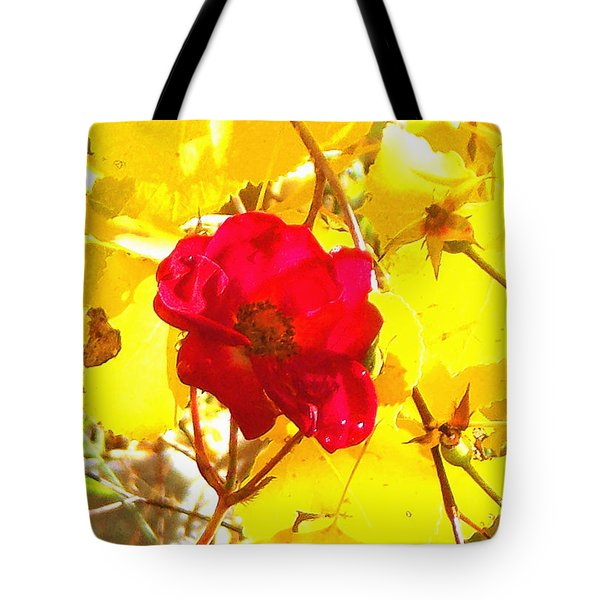 Tote Bag featuring the photograph The Last Rose Of Autumn by Anastasia Savage Ealy