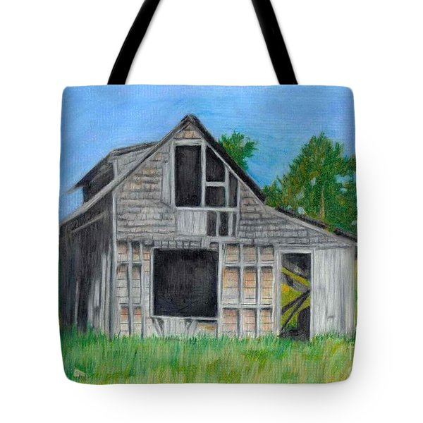 The Last Stage Stop Tote Bag by Mendy Pedersen