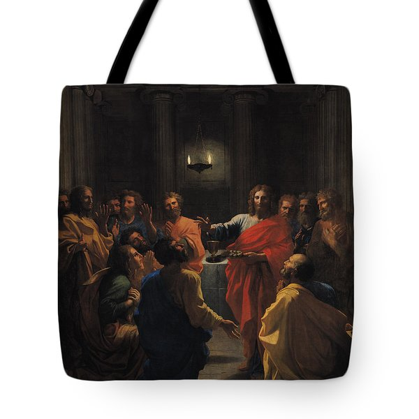The Last Supper Tote Bag by Nicolas Poussin
