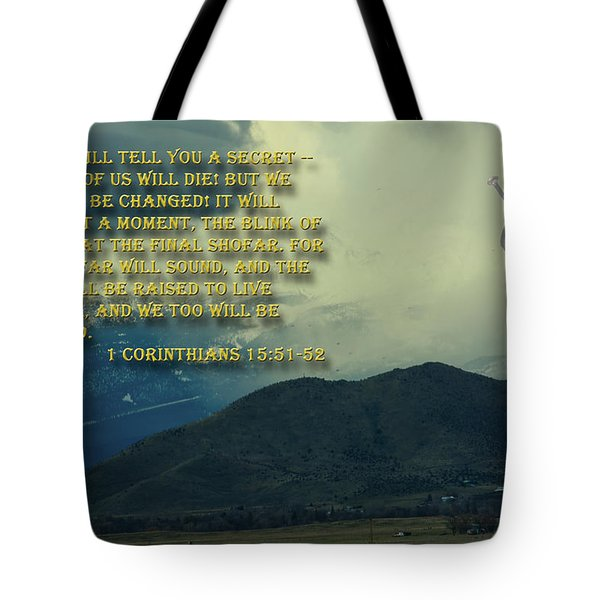 Tote Bag featuring the photograph The Last Trump by Tikvah's Hope