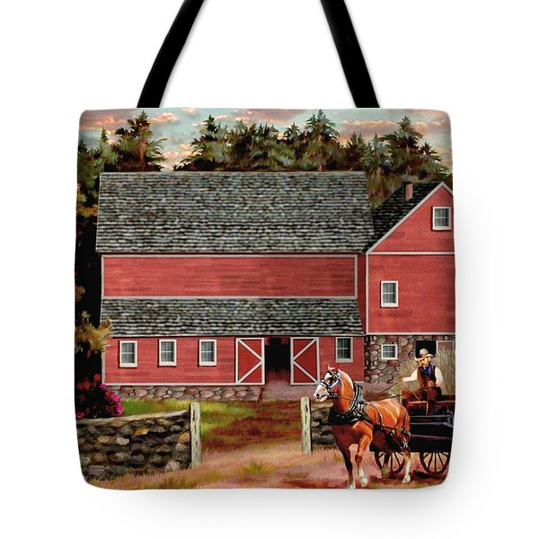 The Last Wagon Tote Bag by Ron Chambers