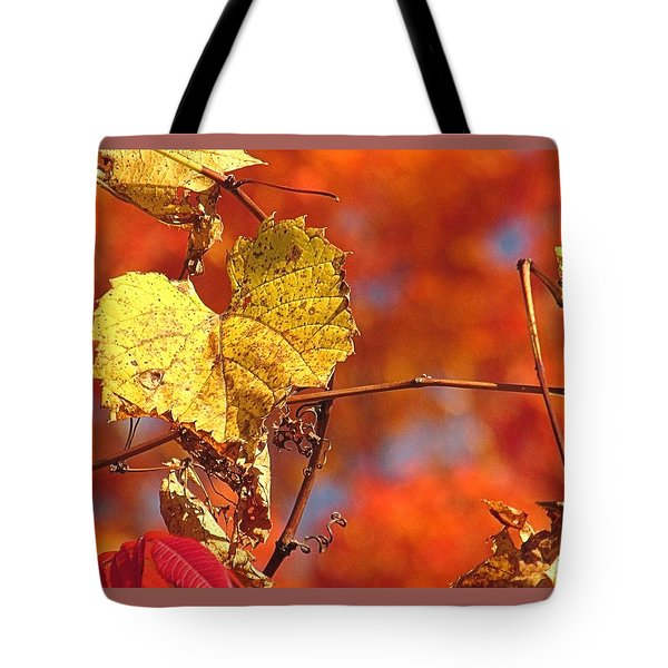 The Last Yellow Leaves Tote Bag