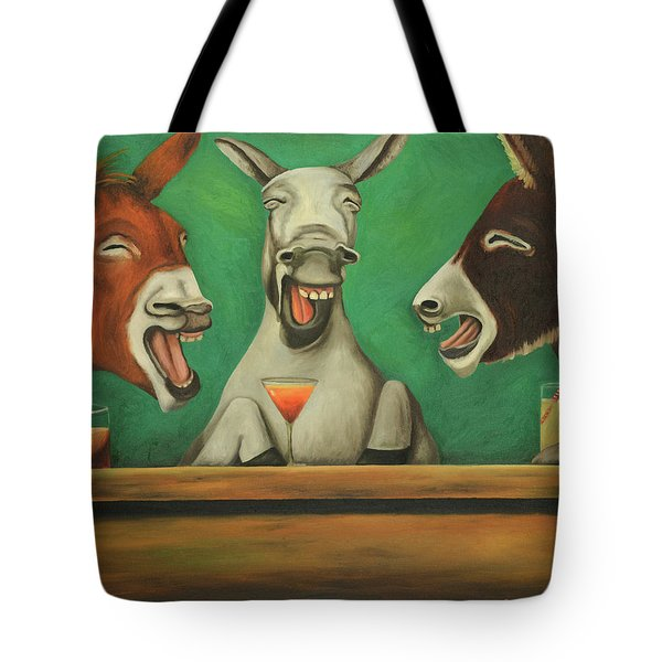 The Laughing Donkeys Tote Bag by Leah Saulnier The Painting Maniac
