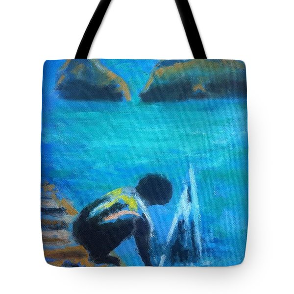 The Launch Sjosattningen Tote Bag