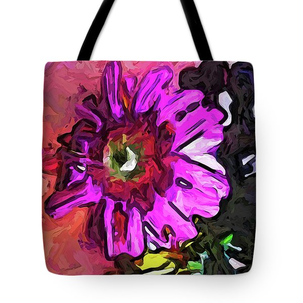 The Lavender Flower Above The Yellow Flower Tote Bag