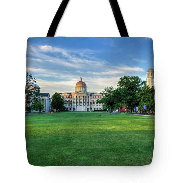 The Lawn At Christopher Newport College Tote Bag